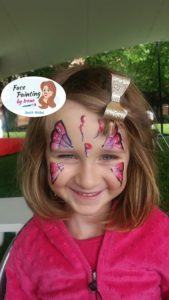 butterfly face paint - birthday party ideas for girls