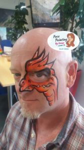dragon face paint - face paint themes for adults
