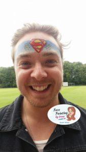 Party ideas - superhero face paint